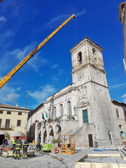Securing the Town Hall of Norcia