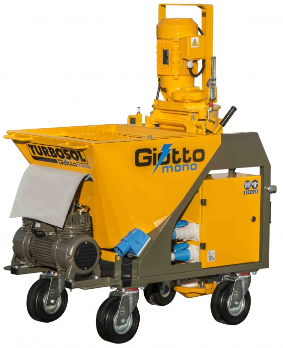 GIOTTO MONO: new single-phase mixer pump for dry mix materials
