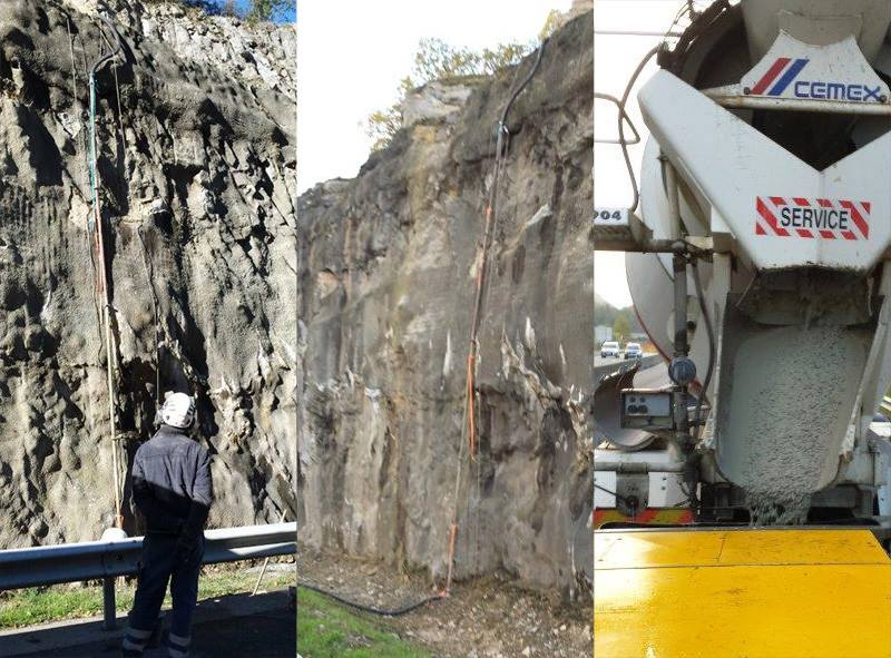 Rock slope reinforcement with Beton Master
