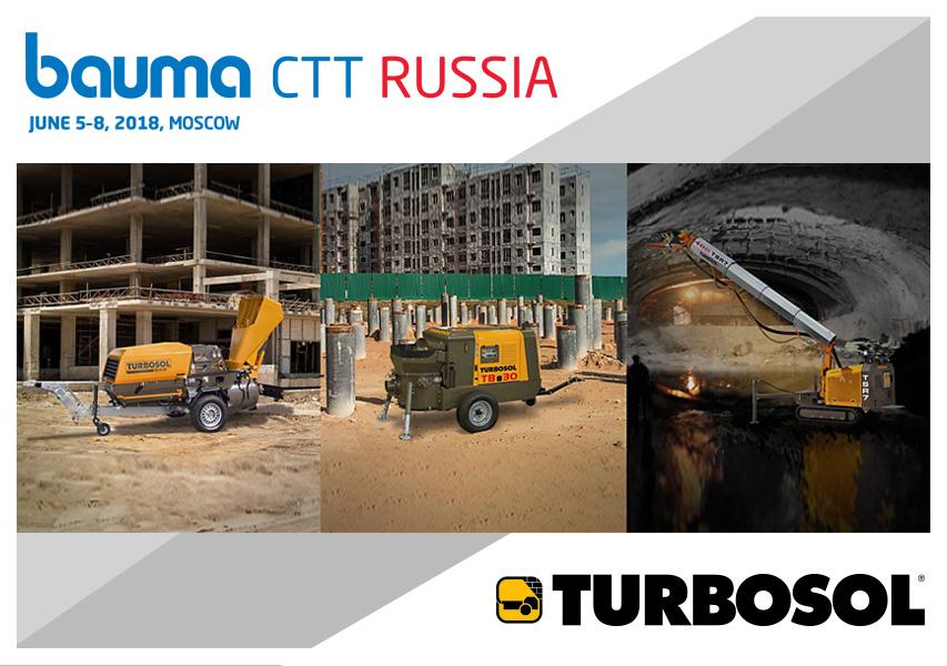Turbosol al Bauma CTT Russia 2018 - 5-8 giugno, Mosca