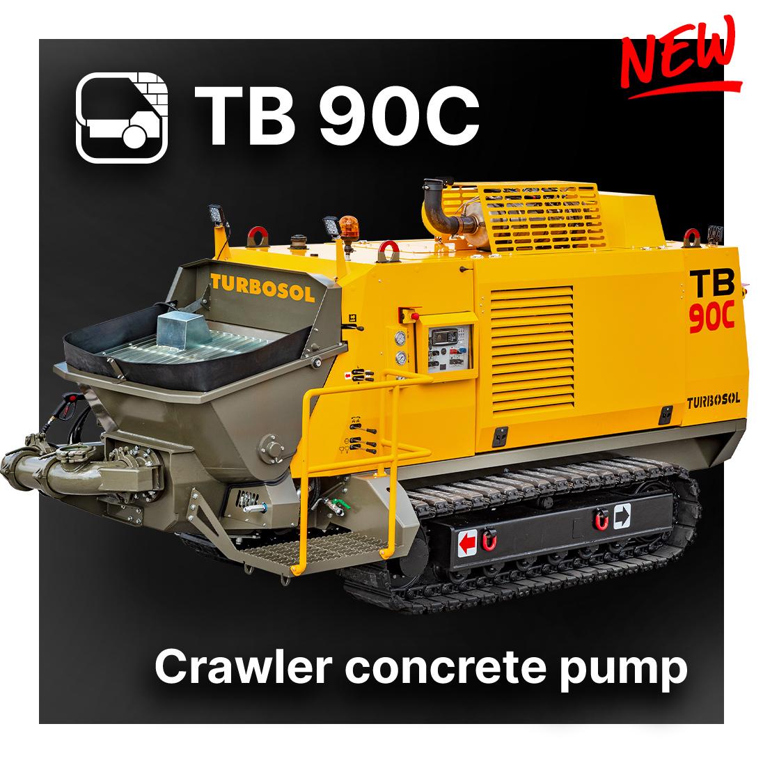 New TB 90C crawler concrete pump